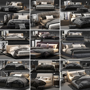 bed colection 01 - 3D model