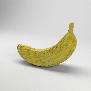 3D voxel banana