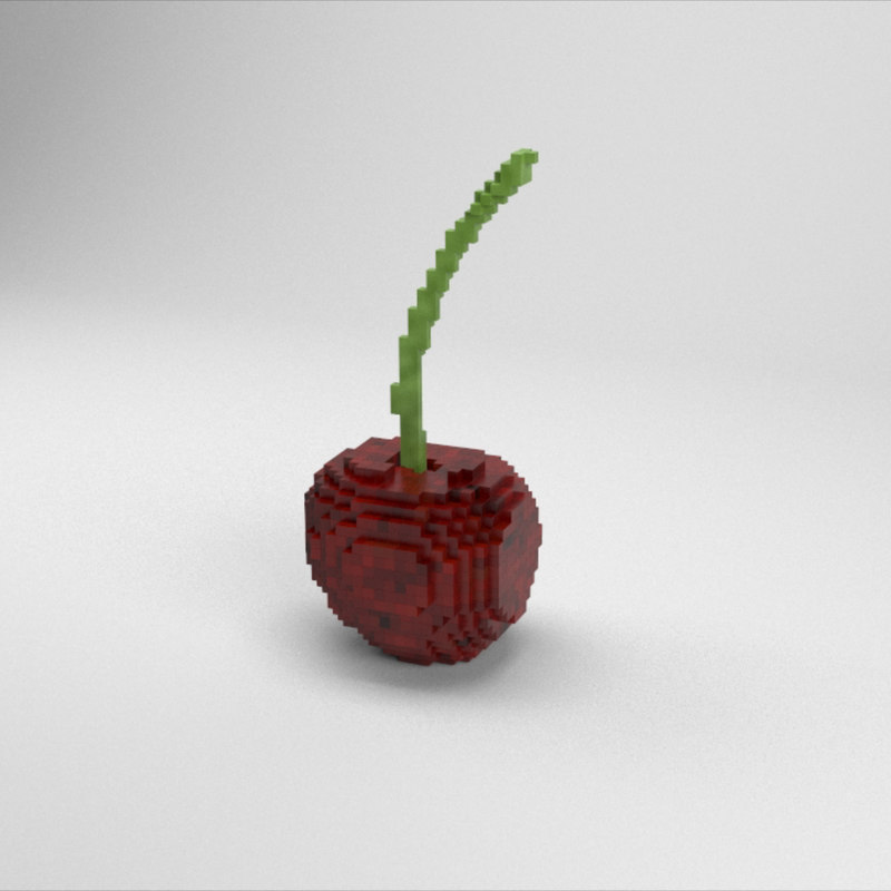 3D voxel cherry model