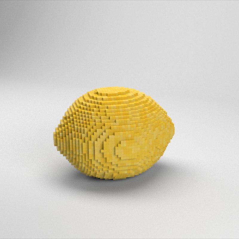 voxel lemon 3D