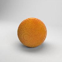 3D voxel orange