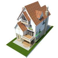house anime 3D model