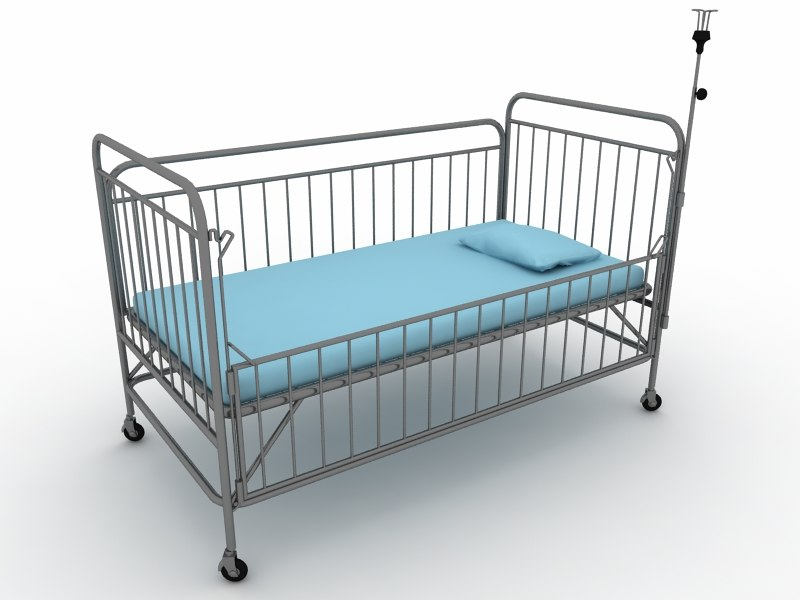 3D bed child children model