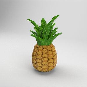 voxel pineapple model