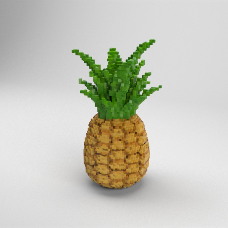 voxel pineapple model