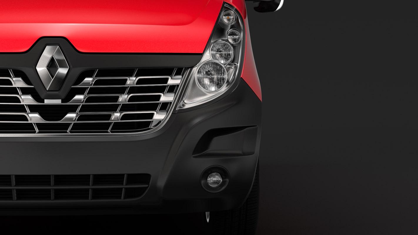 renault master l4h3 minibus 3D model