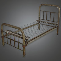 Bed Frame 01 (Antiques) - PBR Game Ready