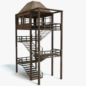 3D tower model
