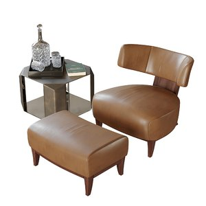 3D donghia egos lounge chair model