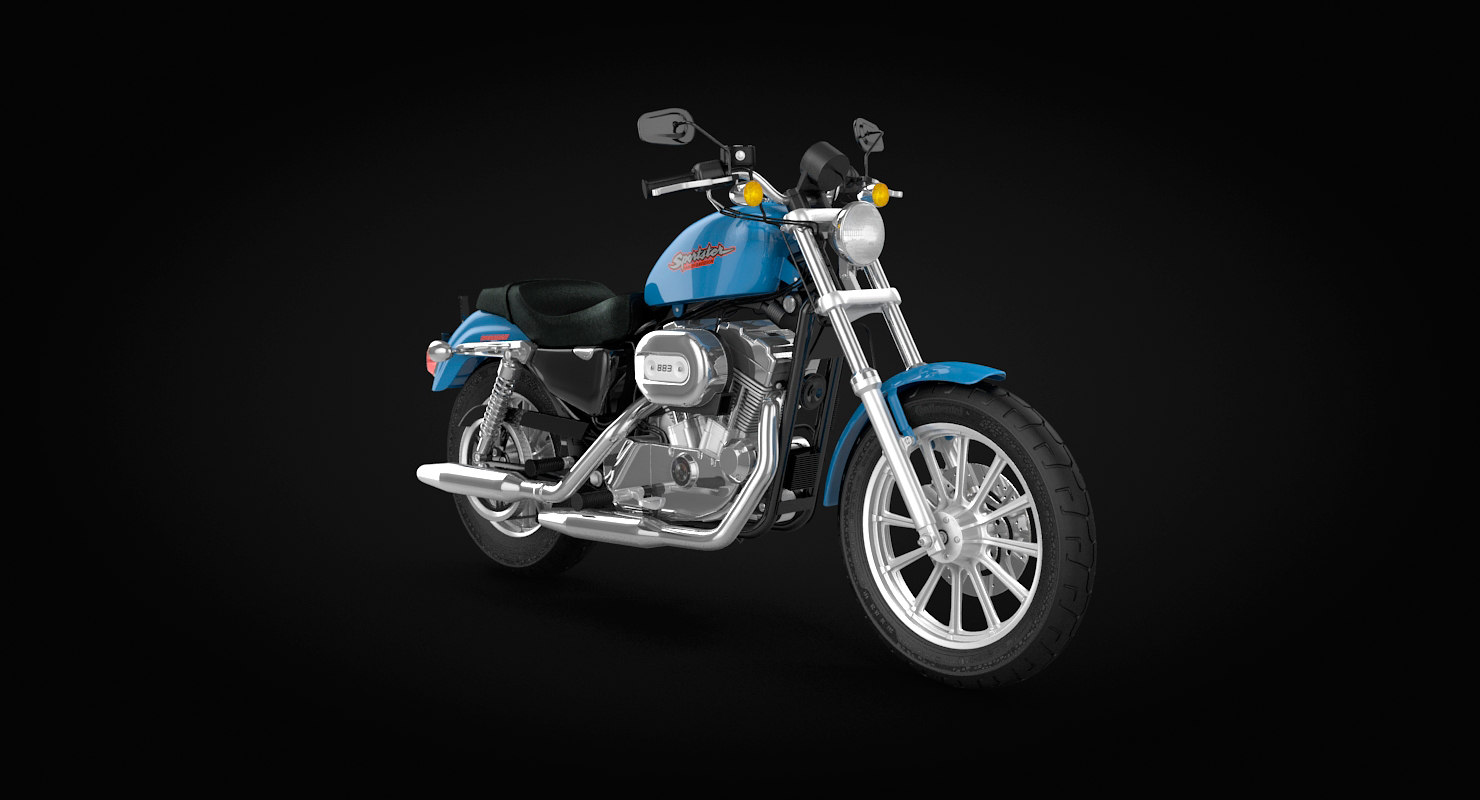 3D sportster motorcycle