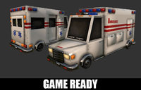 ambulance ready 3D model
