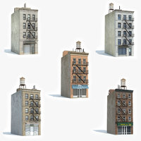 3D ready 5 apartment building