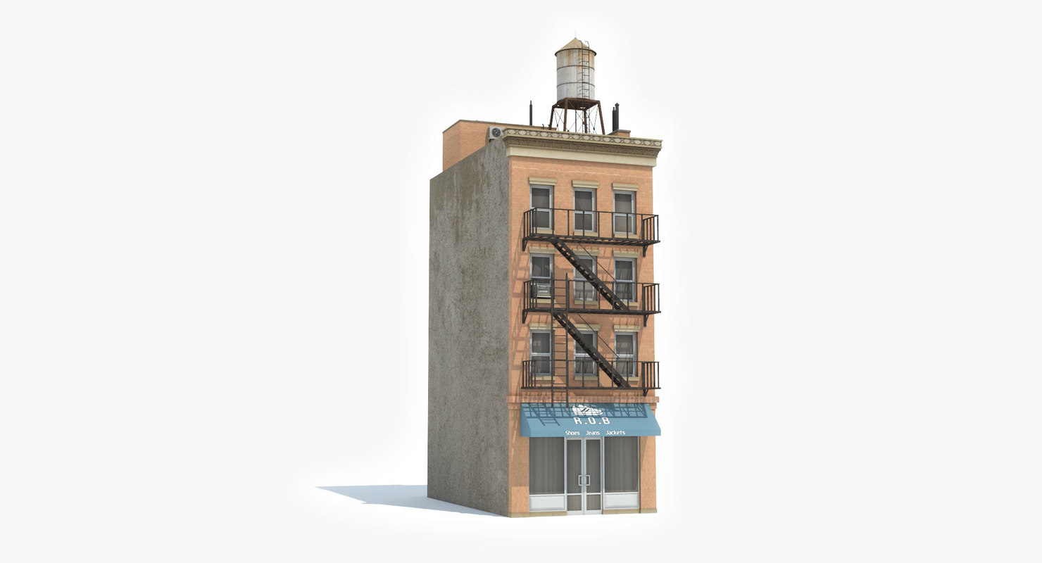 3D ready 5 apartment building