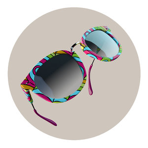 3D sunglasses sun model