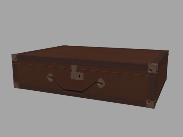 3D old briefcase