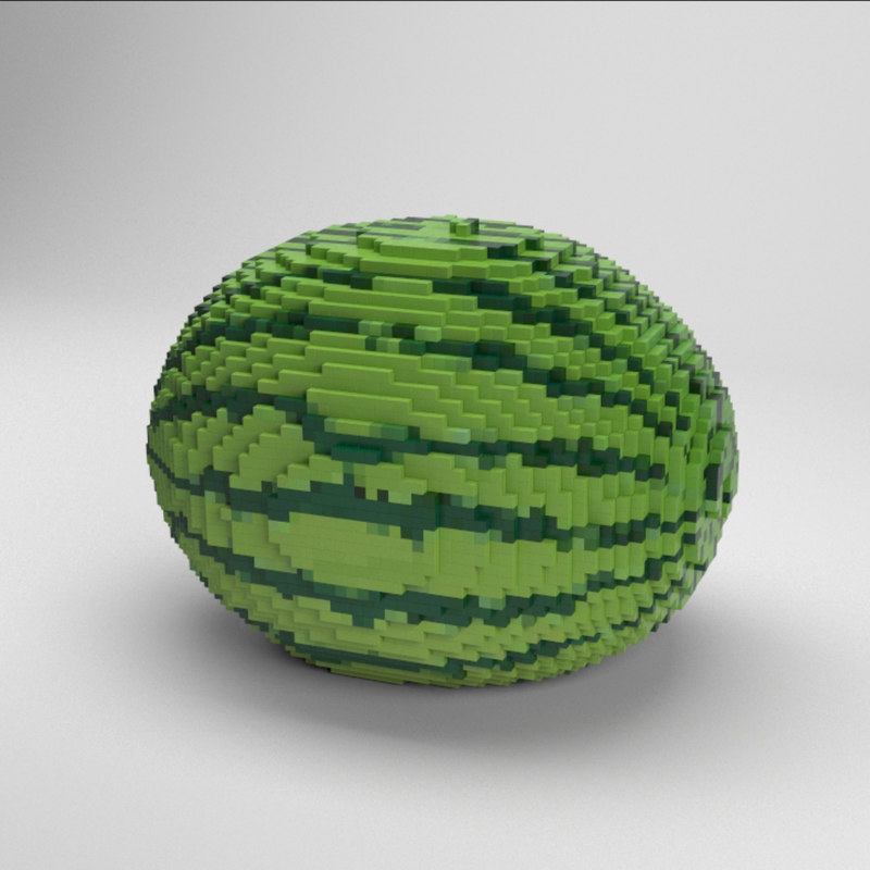 voxel watermelon 3D model