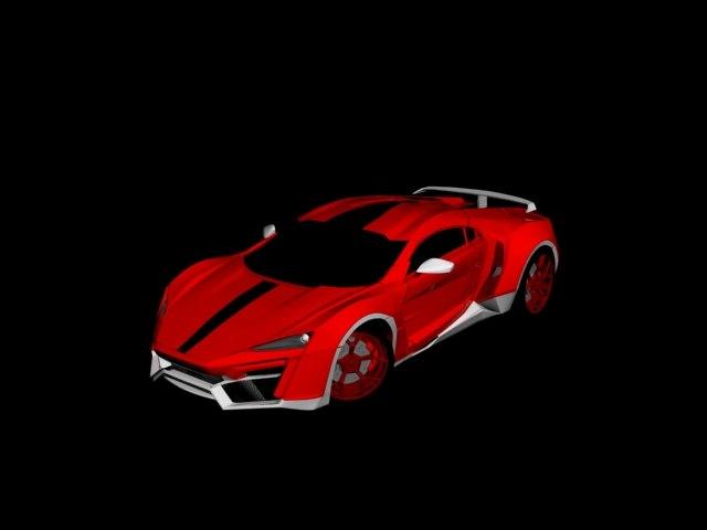 car lykan hypersport 3D
