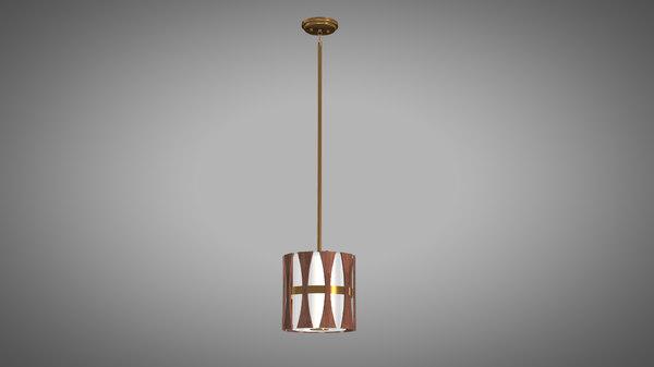 pendant lamp wood 3D model