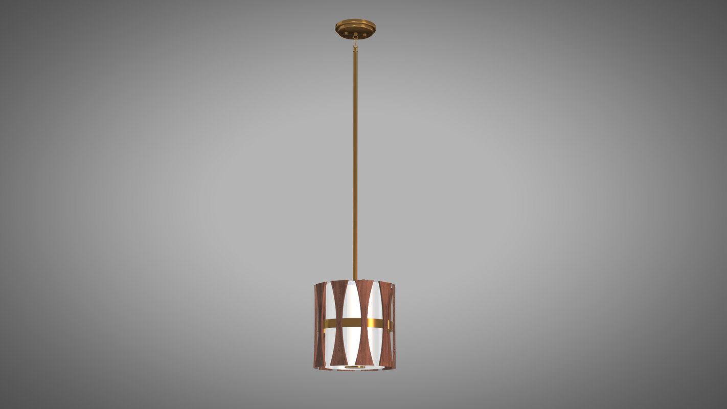 pendant lamp wood 3D model