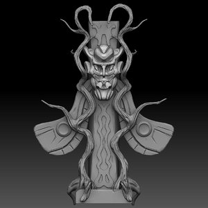 fantasy totem 3D model