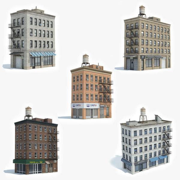 ready 5 apartment building 3D