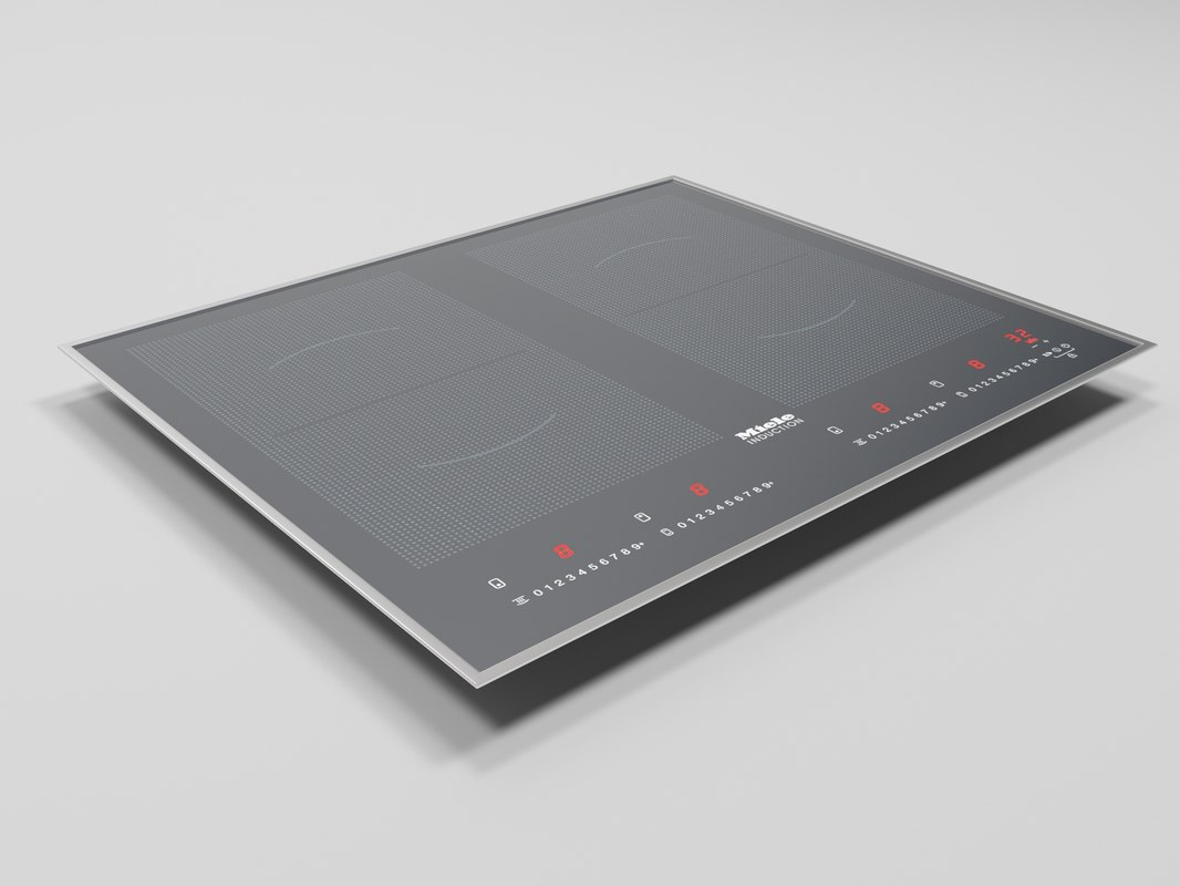 3D model cooking panel miele km6328-1