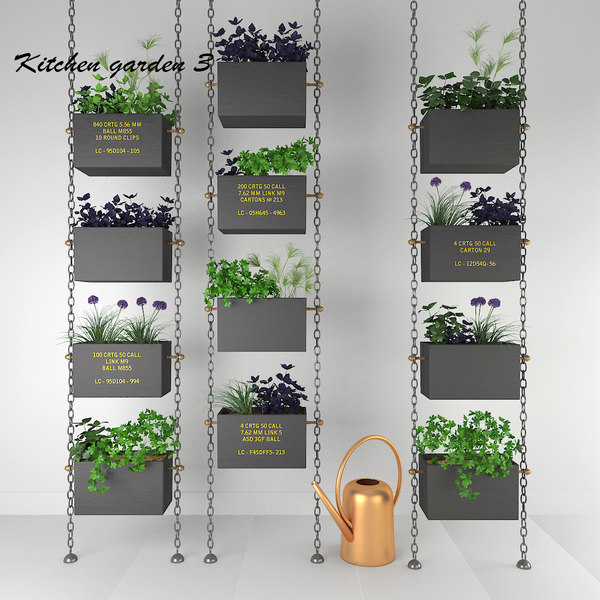 3D kitchen garden decor oregano