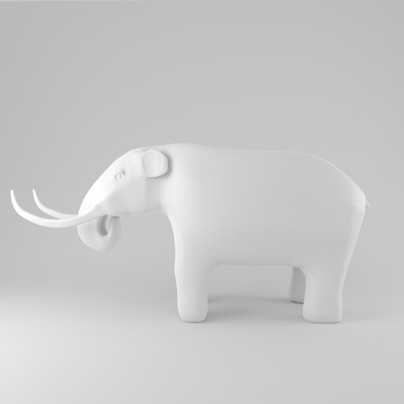 simple mammoth model