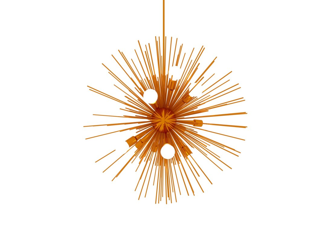 3D zanadoo 12-light geometric pendant model