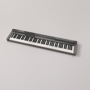 3D model electronic keyboard