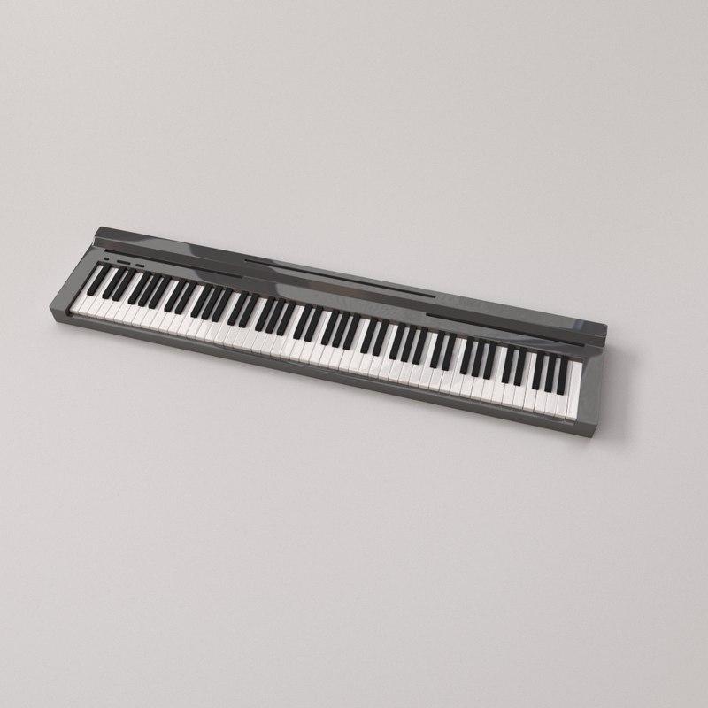 3D model electronic keyboard