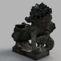 3D lion-statue-006f sculpture