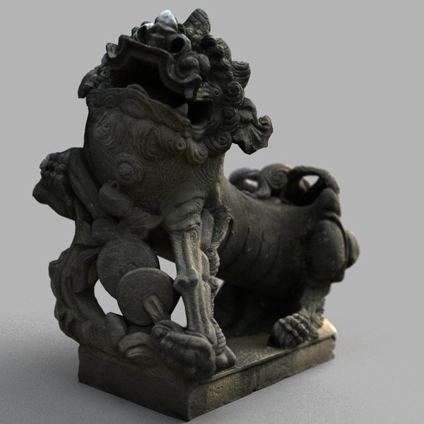 lion-statue-006m sculpture 3D model