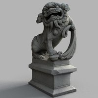 lion-statue-007m sculpture 3D