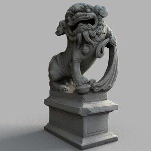 lion-statue-007m sculpture 3D
