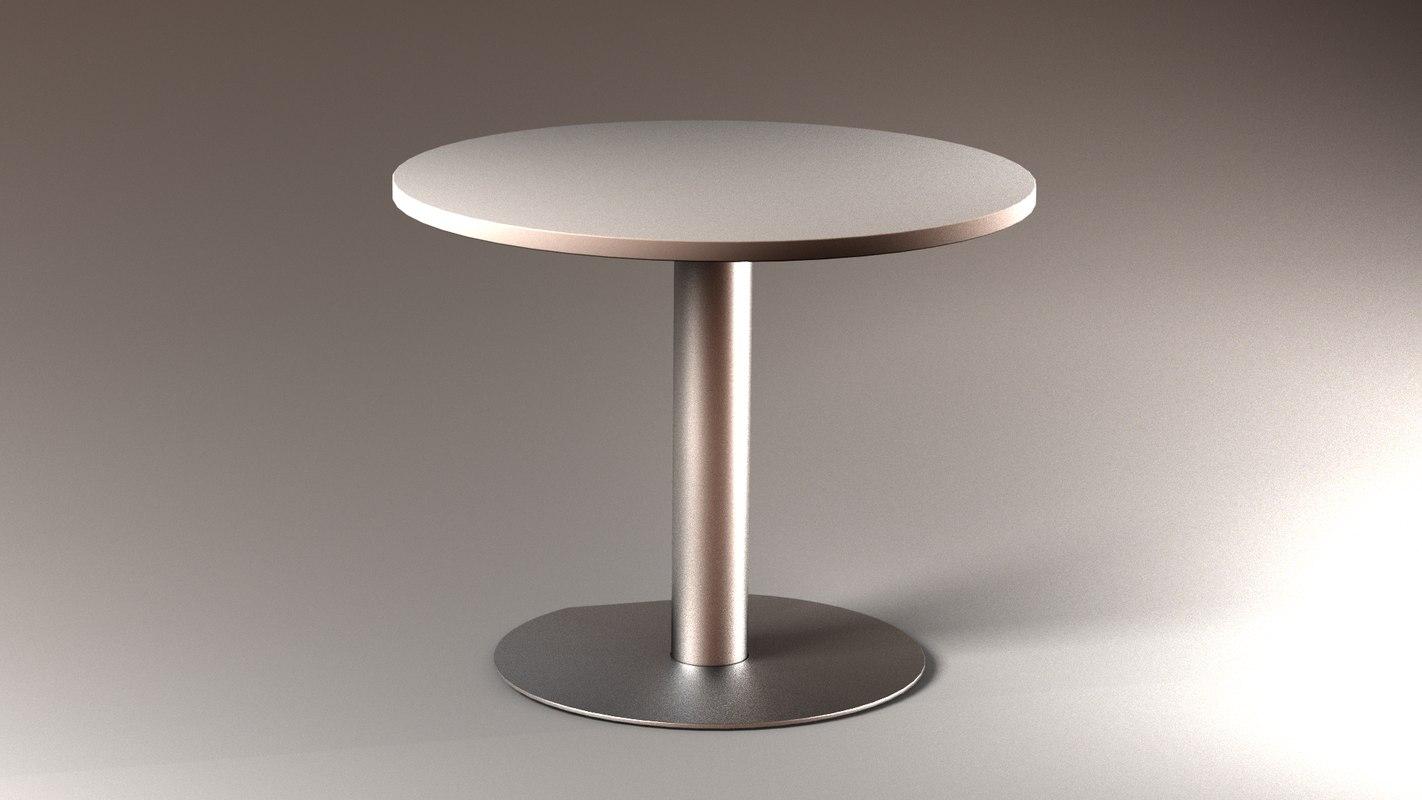 white table 3D model