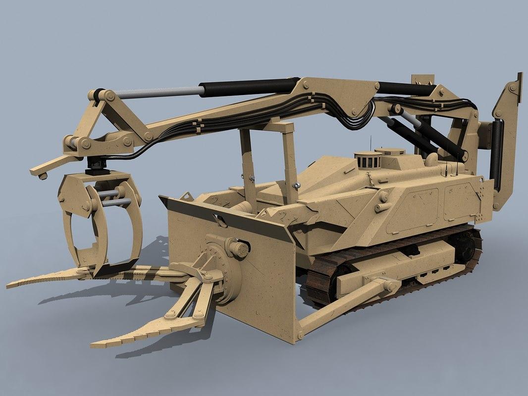 3D mv-4 dok-ing robotic vehicle