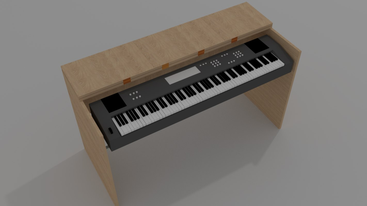 3D model digital piano - stand