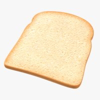 Toast Bread Slice 3D Model