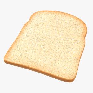 toast bread slice 3D