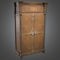 Cabinet 03 (Antiques) - PBR Game Ready