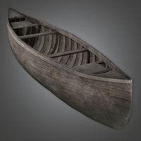 Canoe 01 (Antiques) - PBR Game Ready
