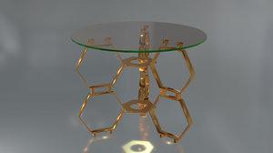 glass table model