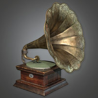 Gramophone 01 (Antiques) - PBR Game Ready