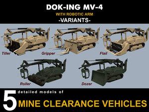 3D dok-ing mv-4 vehicles model