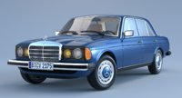mercedes-benz e-class w123 3D model