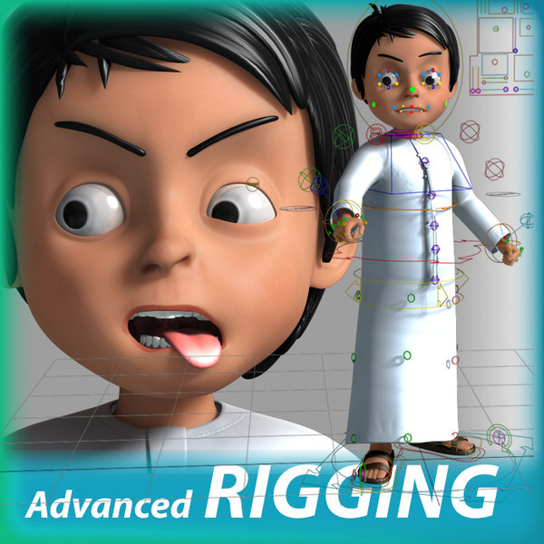 3D cartoon arab boy model