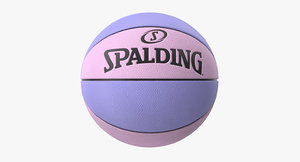spalding basketball 3D