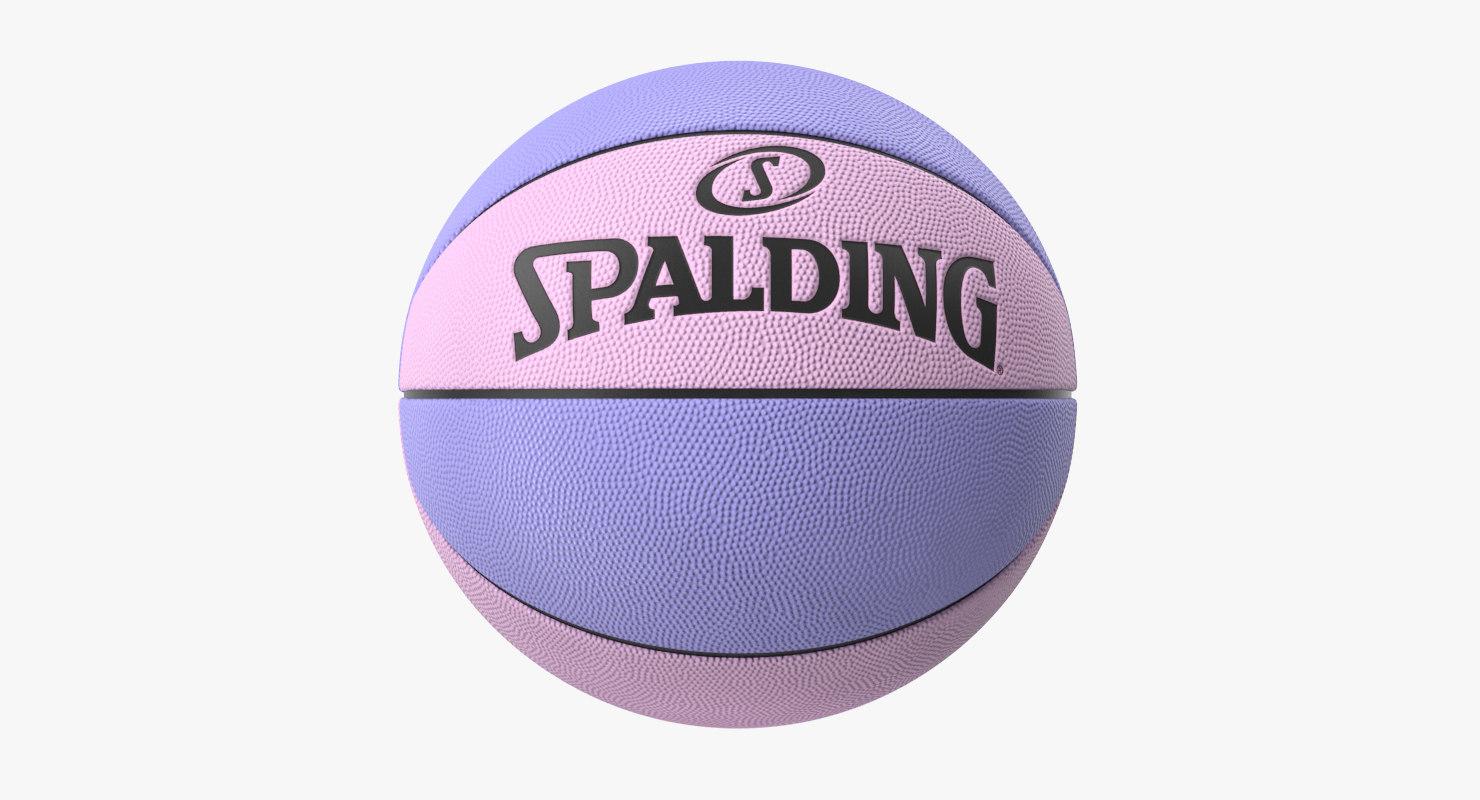 spalding basketball 3D