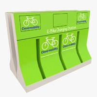 e-bike charging station 3D model